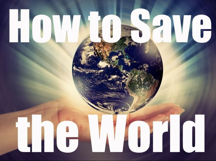 Christians save the world through Jesus Christ and the Gospel
